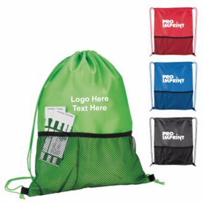 Promotional Half Time Mesh Drawstring Backpacks