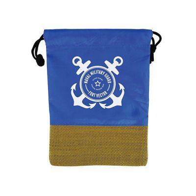 Promotional Logo Ponza Mini Drawstring Bags