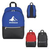 Promotional Silvered Zip Backpacks