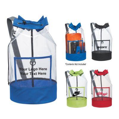 Custom Clear Barrel Sling Bags