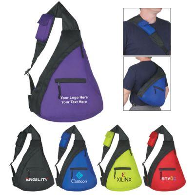 Custom Printed Budget Sling Backpacks