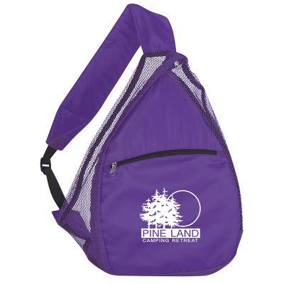 Custom Printed Mesh Sling Backpacks