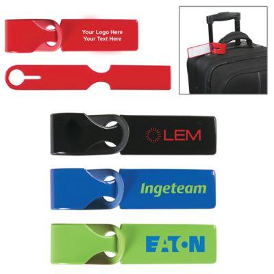 Logo Imprinted Loopy Luggage Tags