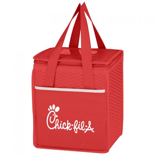 Non-Woven Wave Design Cooler Lunch Bags