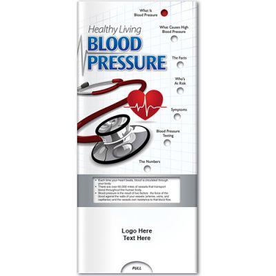 Custom Imprinted Blood Pressure Healthy Living Pocket Slider