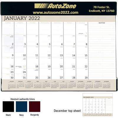 2018 Vinyl Desk Pad Calendars