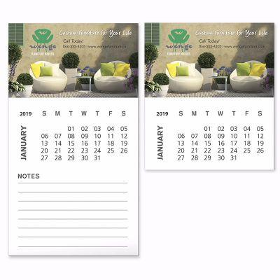 Custom Printed Business Card Magnet with 12 Sheet Calendar