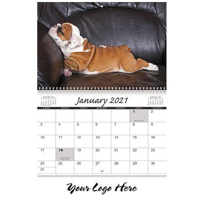 Custom 2018 Canine Companions Spiral Wall Calendars