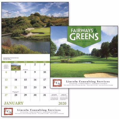 Custom 2018 Fairways and Greens Stapled Wall Calendars