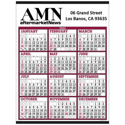 Custom Imprinted Big Numbers Span-A-Year Calendars