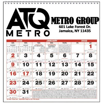 Custom Imprinted 2018 Small Almanac Wall Calendars