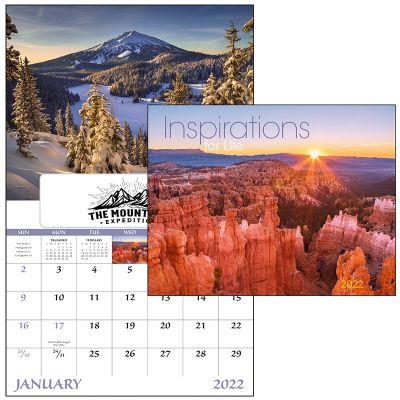 Custom Imprinted 2018 Inspirations For Life-Window Stapled Wall Calendars