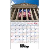 Custom Printed 2017 America! Spiral Wall Calendars