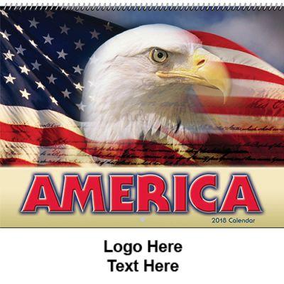 Custom Printed 2018 America! Spiral Wall Calendars