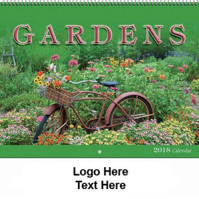 Custom Printed 2018 Gardens Spiral Wall Calendars
