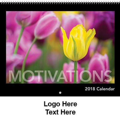 Custom Printed 2018 Motivations Spiral Wall Calendars