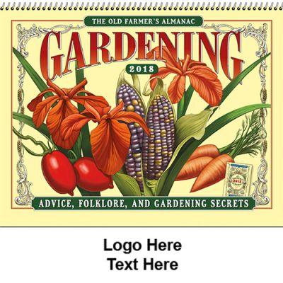 Custom Printed 2018 The Old Farmer's Almanac Gardening Spiral Wall Calendars