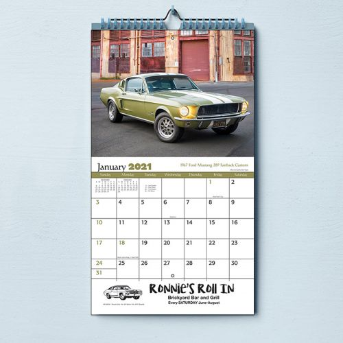 2020 Muscle Cars Stapled Wall Calendars