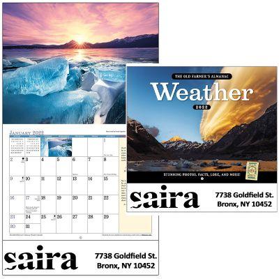 Custom Printed 2018 The Old Farmer's Almanac Weather Watcher's Stapled Wall Calendars