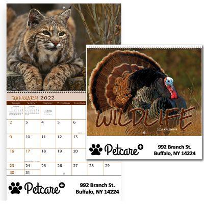 Custom Printed 2018 Wildlife Spiral Wall Calendars