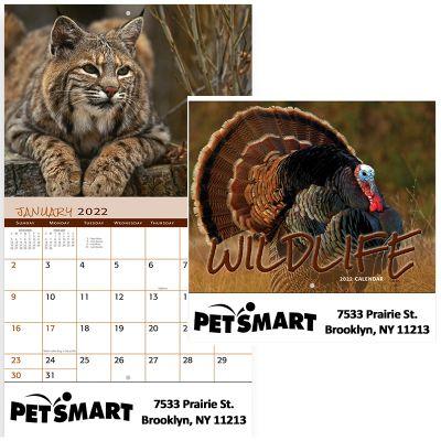 Custom Printed 2018 Wildlife Stapled Wall Calendars