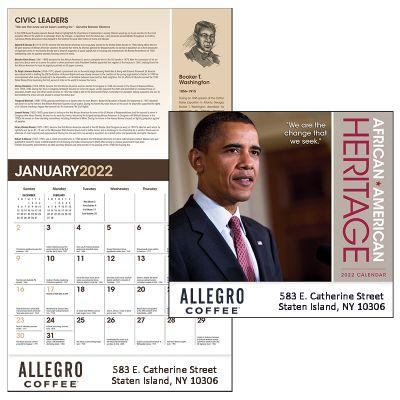 Promotional 2018 African-American Heritage Barack Obama Calendar
