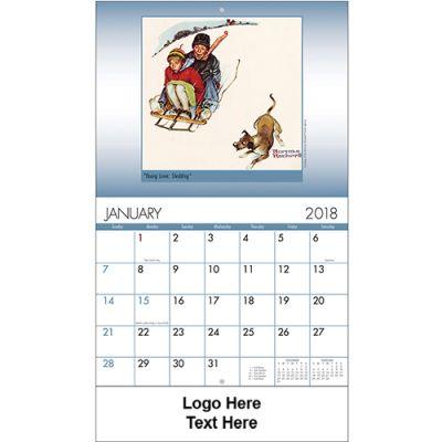 Promotional 2018 American Illustrator Stapled Wall Calendars