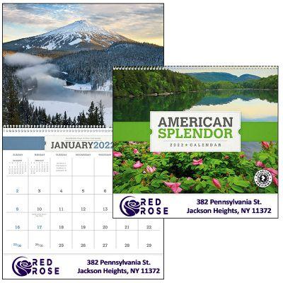 Promotional 2018 American Splendor Spiral Wall Calendars