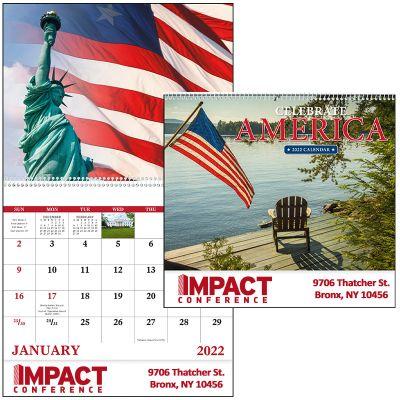 Promotional 2018 Celebrate America Spiral Wall Calendars