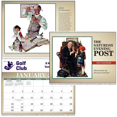 Promotional 2019 The Saturday Evening Post Wall Calendars