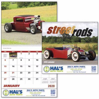 Promotional Logo 2018 Street Rods Spiral Wall Calendars