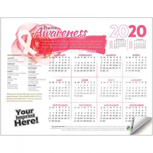 Custom Imprinted Breast Cancer Awareness Adhesive Wall