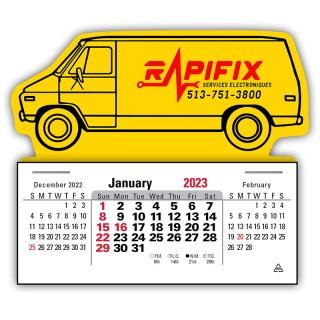 Custom Printed Press-N-Stick 3 Month Horizontal Calendars (12-Month)