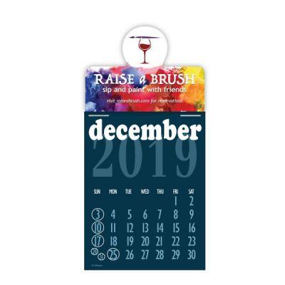 Custom Printed Press-N-Stick Prismatic Calendar Pads