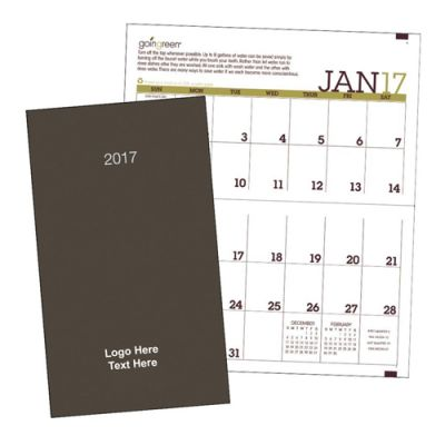 Promotional 2017 Goingreen Monthly Pocket Planner