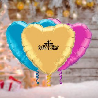 18 Inch Custom Printed Heart Microfoil Balloons