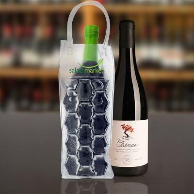 3.75 x 14 Inch Custom Printed Gel Wine Tote Bags