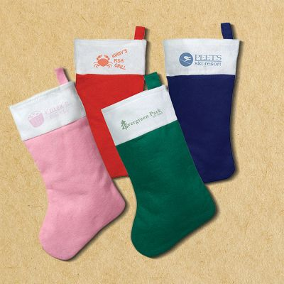 Custom Imprinted Felt Christmas Stockings