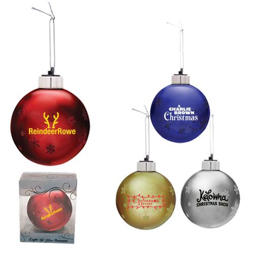 Light-Up Glass Ornaments
