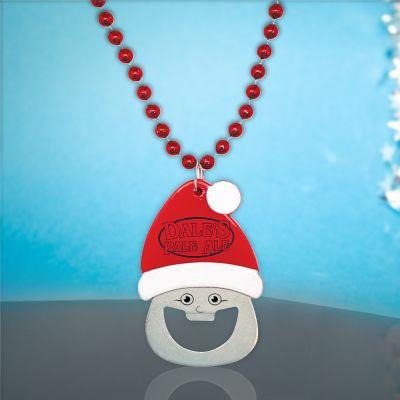 Custom Imprinted Santa Bottle Opener Beads