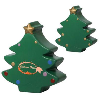 Custom Printed Christmas Tree Stress Relievers