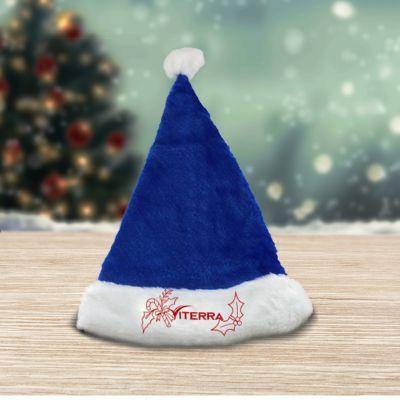 Custom Printed Plush Santa Hats