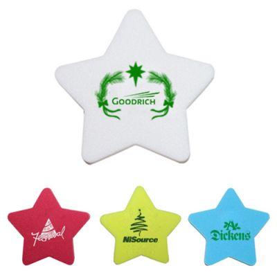 Custom Printed Star Shaped Die Cut Erasers - 4 Colors