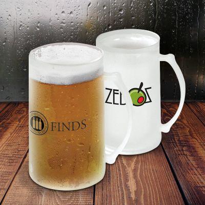 Customized 16 Oz Freezer Beer Mugs