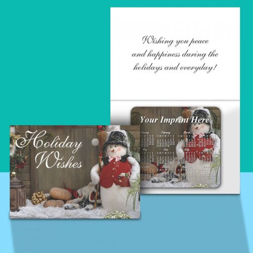 Customized Greeting Card With Magnetic Calendar