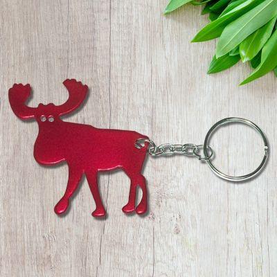 Promotional Elk Shape Bottle Opener Keychains