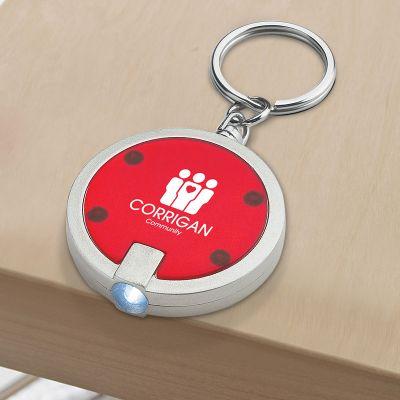 Promotional Logo Round LED Keychains