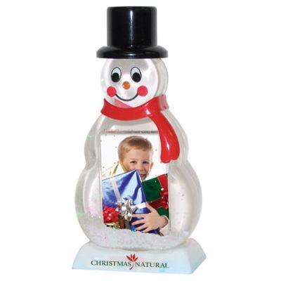 Promotional Logo Snowman Snow Globes