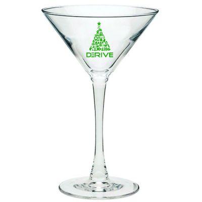 Promotional Logo Tall Stem 7.25 Oz Martini Glasses