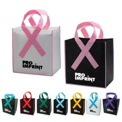 Awareness Ribbon Grocery Shopper Tote Bags